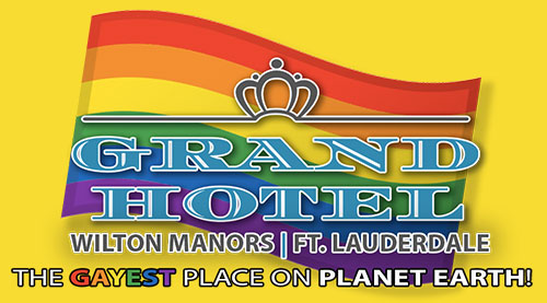 Fort Lauderdale Grand Hotel logo with pride flag